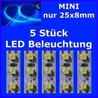S505 - 5 Stück MINI LED Modellbeleuchtung 2,5cm BLAU Beleuchtung Häuser Autos