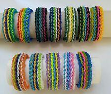 Rainbow Loom Rubber Band Bracelet - 5 Row Frilly Braid
