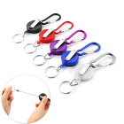 Retractable Key Chain Badge Reel - Recoil Carabiner ID Ski Pass Holder Chains