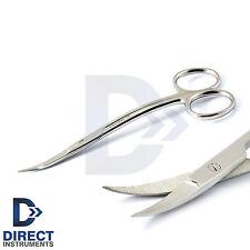 Surgical Goldman Fox Scissor 13cm Double Curved Dental Tissue Cutting Suture Lab