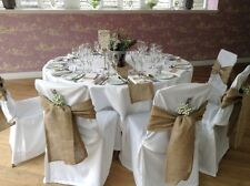 """10  packs 6""""x108""""Burlap Chair Cover Sashes Bows Natural Jute Wedding Event  SALE"""