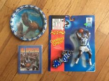 """LOT OF 3, VINTAGE """"SHAQUILLE O'NEAL #34"""" ITEMS,  SHAQ ATTACK,PAPER PLATES, BOOKS"""