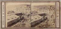 Genoa Il Port Italia Foto G.S.Stereo Vintage Albumina c1870