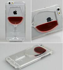 Liquid 3D Wine Glass Cocktail Bottle Pattern Case Cover For iPhone 5S 6 6S 7Plus