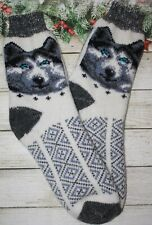 SOCKS MEN's natural Russian sheep yarn thick home Knitted Christmas