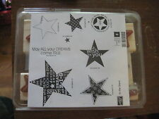 "Set of 8 Stampin Up! ""In The Stars May All Your Dreams Come True"" Rubber Stamps"