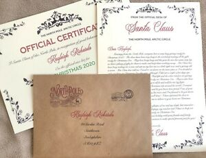 Personalised Letter from Santa Father Christmas & Nice List Certificate (EG1 IV)