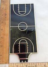 Black and Gold Plexiglass Basketball Court Flat Trophy Topper