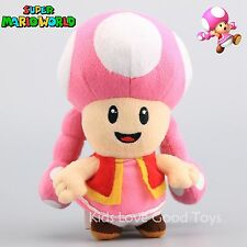 Super Mario Toadette Plush Female Girl Toad Maid Stuffed Animal Doll Toy 7'' NWT