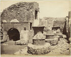 Photo Albuminé Italie Italia Pompéï Vers 1880