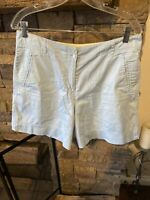 Tommy Bahama Women's Light Blue Bermuda Shorts Casual Size 12 Stretch