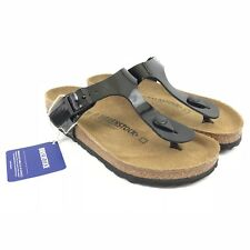 Birkenstock Gizeh Black Patent Sandals Size 5 / 36