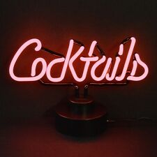 New Pink Coctails Neon sign sculpture Table shelf window or wall lamp light