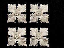 FOUR SQUARE  CORNERS WHITE DECORATIVE MOULDINGS FIREPLACE CUPBOARDS RESIN