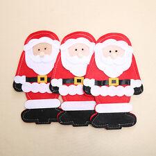 5 X Christmas Xmas Holders Pockets Dinner Table Decor Decorations Cutlery Bag