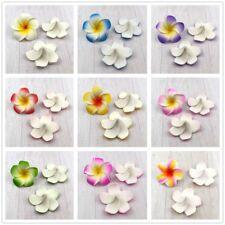 100X 6cm Foam Plumeria Frangipani Flower Heads Orchids  Hawaiian Wedding Decor