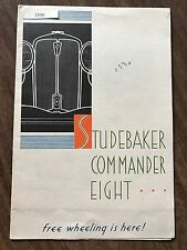 "Original 1930 Studebaker Commander ""Free Wheeling"" Color Sales Dealer Brochure"