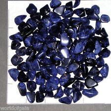 SODALITE 'A' mini-xsm navy blue tumbled 1/2 lb bulk stones, knowledge Nice!