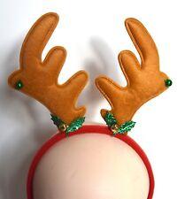 NUOVO Raindeer con Holly e campane su Red Aliceband Costume Festa Di Natale