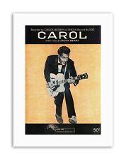 Musica Chuck Berry CARROL record di Scacchi per Chitarra Nuovo Poster Foto Tela Music