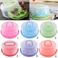 Lidded Cake Box Bakery Cake Shops Cupcake Muffin Carrier Plastic Container