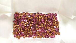155 swarovski oval stones,8x6mm rose,goldfoiled #4130/2