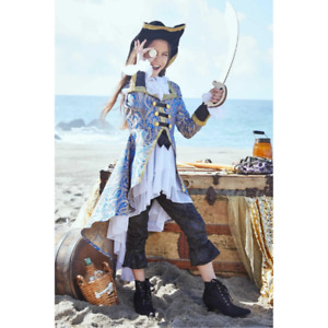 Chasing Fireflies Pirate Blue Brocade Costume for Girls Size 10
