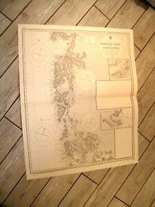 Vintage Admiralty Chart 561 CHILE - MAGELLAN STRAIT to GOLFO DE PENAS 1921 edn