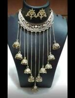 Indian Ethnic Oxidized Choker Chain Necklace Set Indian Jewelry set