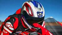 HONDA FIREBLADE KABUTO AEROBLADE 5 SMART ROAD MOTORCYCLE CRASH HELMET BLACK RED
