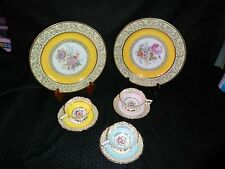 VTG Royal Stafford Bone China 3 Tea Cup & 3 Saucer