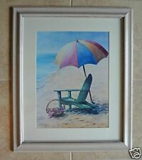 Beach Chair & Umbrella Framed Art Disney Boardwalk/Beach Club Inn & Villas Prop