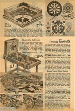 1960 ADVERT Electro Baseball Game State Fair Pin Ball Yogi Bear Games