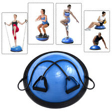 "23"" Yoga Ball Balance Trainer Yoga Fitness Strength Exercise Workout w/Pump Blue"