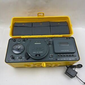 Jeep Boombox Portable CD Radio AM/FM Cassette Player Yellow WPSS-1A For Parts