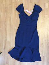 LIPSY Dress Shift Fill Hem size 6 NEW Blue Sweetheart