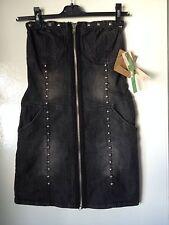 Denim Bandeau Patternless Dresses for Women