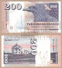 Finland - Aland Islands 200 Kronor 2016 UNC SPECIMEN Test Note Gabris Banknote