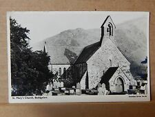 Postcard St Mary's Church Beddgelert Wales unposted  . xc2