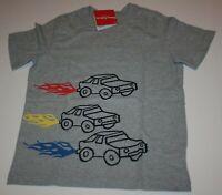 New Hanna Andersson Boys Tee 150 12 year NWT Top Race Cars Gray