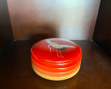 New Japanese Lacquer Ware Lacquerware Box Crane from Japan