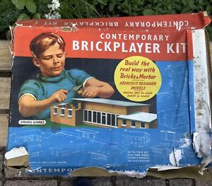 Vintage Childs Building Toy The Contemporary Bricklayer Kit