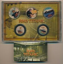 US RMS Titanic Coin Set 24k Gold Plated Kennedy Half dollars & NY State Quarters