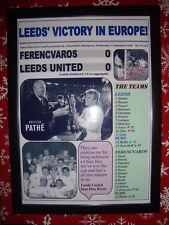Ferencvaros 0 Leeds United 0 - 1968 Fairs Cup final second leg - framed print