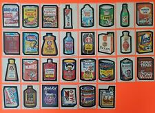 1973 Topps Wacky Packages 1st Series Complete Set 30/30 Whiteback W/ Puzzle