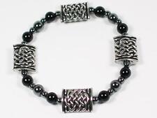 Celtic design Pewter pillows and Black Onyx Bracelet . Viking/ Celtic, Norse