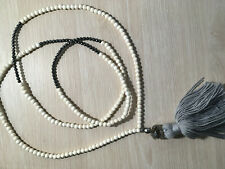 Handmade necklace, semi precious stones- hematite