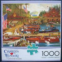 jigsaw puzzle 1000 pc Lost in the Woodies Wysocki Americana Buffalo Games