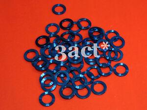 4pcs Blue M8 Titanium / Ti Bolt Nut Washer (Fit Brake, Stem, Shifter)