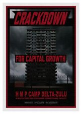 Jimmy Cauty CRACKDOWN! HM Prison Camp Delta Zulu signed ltd edit canvas 22/23.